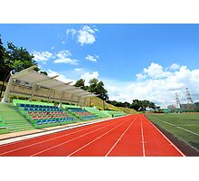 Stadium chairs and running tracks Photographic Print