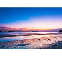 Sunset at coast in Hong Kong Photographic Print