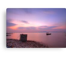 Sunset over the ocean in Hong Kong, HDR image. Canvas Print