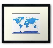 World map E water Framed Print
