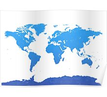 World map E water Poster