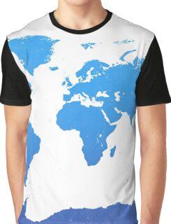 World map E water Graphic T-Shirt