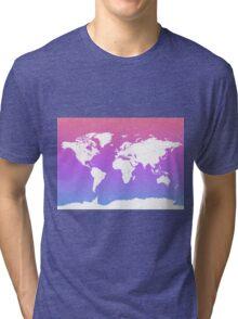 World map energy Tri-blend T-Shirt