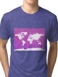 World map io Tri-blend T-Shirt