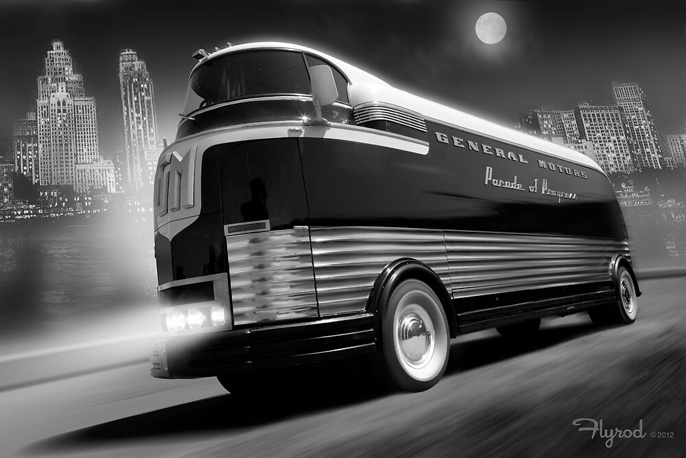 The Futurliner, Detroit 1940 by flyrod