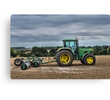 Tractor and roller Canvas Print