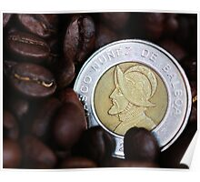 Coins and Coffee Poster