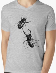 Stag beetles Mens V-Neck T-Shirt