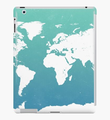 World map i water iPad Case/Skin