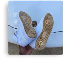 Nike Air Force 1 Blue and Gold - Lamborghini  Canvas Print