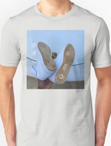 Nike Air Force 1 Blue and Gold - Lamborghini  T-Shirt