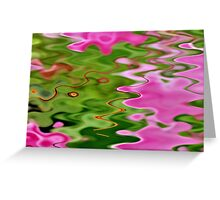 Puddles of Pink Greeting Card