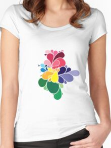 colour explosion 1 Women's Fitted Scoop T-Shirt