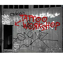 Tattoo workshop Photographic Print