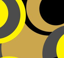 Retro big modern colorful circles black yellow grey pattern Sticker