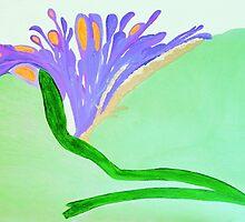 Spirit Flowers - Abundance with purple and orange petals by OILSTUDIOS