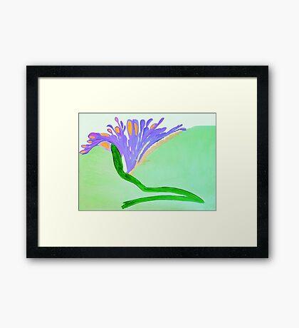 Spirit Flowers - Abundance with purple and orange petals Framed Print