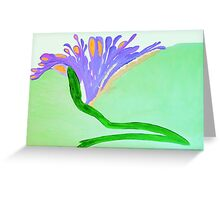 Spirit Flowers - Abundance with purple and orange petals Greeting Card