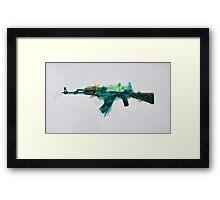 CS:GO AK-47 Fire Serpent Framed Print