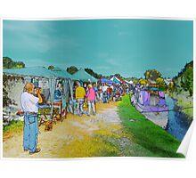 Festival Stalls. Poster