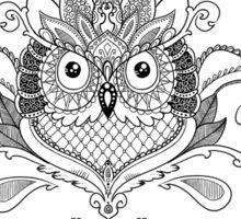 Ornament Owl  Sticker