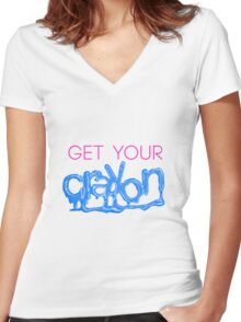 G-Dragon Crayon Necklace Tee Women's Fitted V-Neck T-Shirt