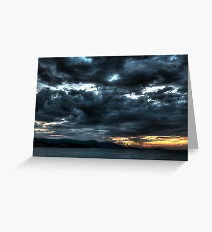 black clouds Greeting Card