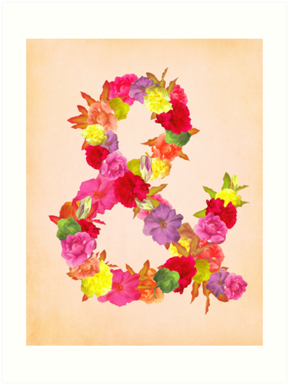 Flower Ampersand by sandra arduini