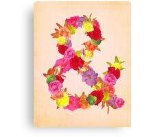 Flower Ampersand Canvas Print