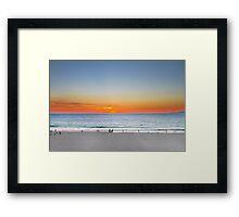 A Lighter Sunset Framed Print