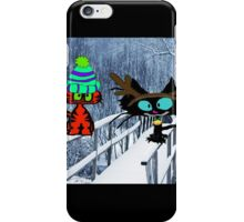 Two CatsPlay In The Snow iPhone Case/Skin