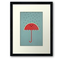Watermelon Umbrella Framed Print