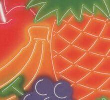 Neon Fruit Sticker