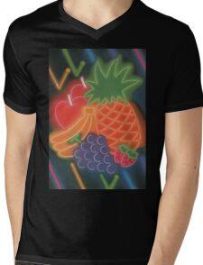 Neon Fruit Mens V-Neck T-Shirt