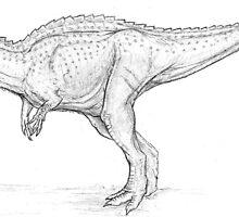 Ceratosaurus Sketch by Asher  Elbein
