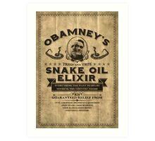 Obamney's Tried and True Snake Oil Elixir Art Print