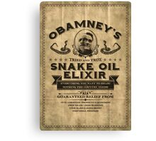 Obamney's Tried and True Snake Oil Elixir Canvas Print