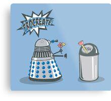 Dalek Crush Metal Print