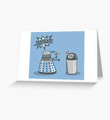 Dalek Crush Greeting Card