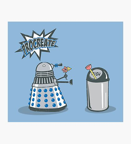 Dalek Crush Photographic Print