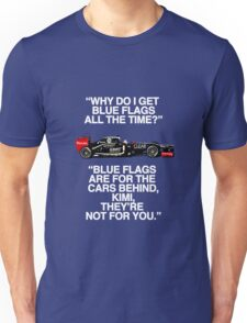 Kimi Learns About Blue Flags Unisex T-Shirt
