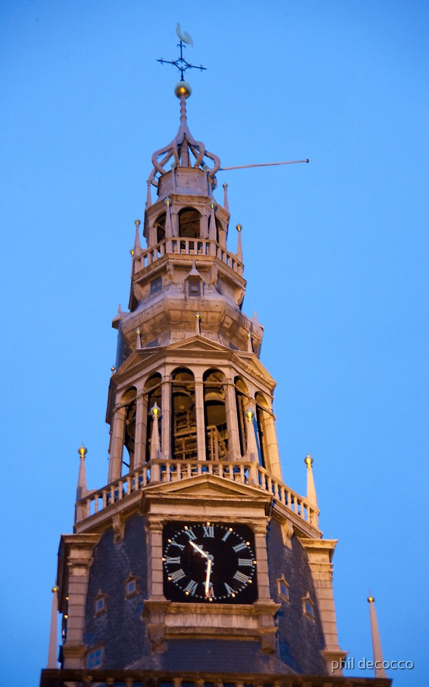 Clock Tower 10:30 PM by phil decocco