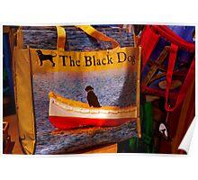 Black Dog Bag Poster