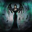 Wings of the dark Raven by Amalia Iuliana Chitulescu