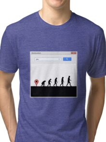99 steps of progress - Geolocation Tri-blend T-Shirt