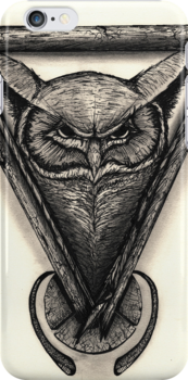 Owl Portrait by Brandon  Dover