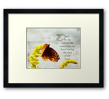 Don't allow-inspirational Framed Print
