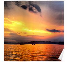 Norwalk Island Sunset Poster