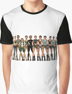 Tomb Raider Lara Croft All Generations Graphic T-Shirt