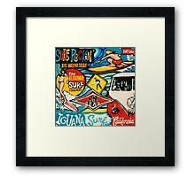 Surf Rockin Framed Print